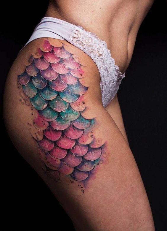 Tatuaje escamas sirena